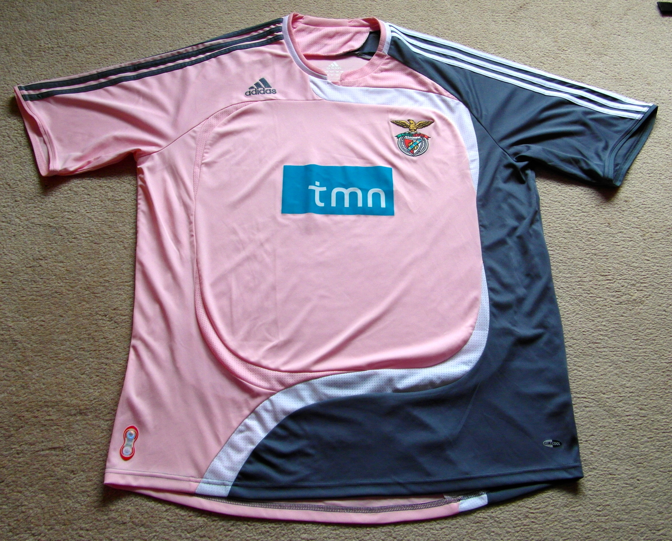 brand new cbfaa aff50 Benfica 2007 – 2008 away shirt – pedro's football shirts